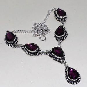 Am 1285a collier parure sautoir 1900 amethyste pourpre bijou achat vente