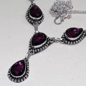 Am 1285b collier parure sautoir 1900 amethyste pourpre bijou achat vente