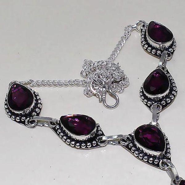 Am 1285c collier parure sautoir 1900 amethyste pourpre bijou achat vente