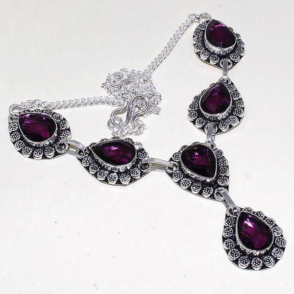 Am 1286a collier parure sautoir 1900 amethyste pourpre bijou achat vente