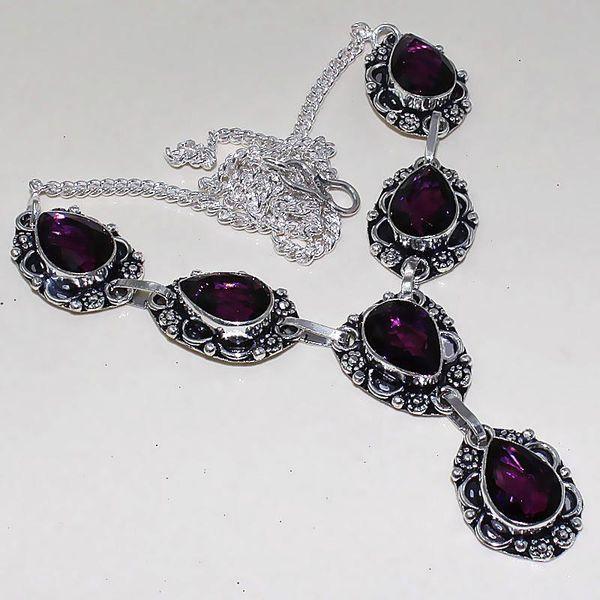 Am 1287a collier parure sautoir 1900 amethyste pourpre bijou achat vente