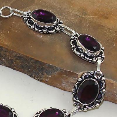 Am 1288b bracelet 1900 belle epoque amethyste violette pourpre bijou achat vente argent 925