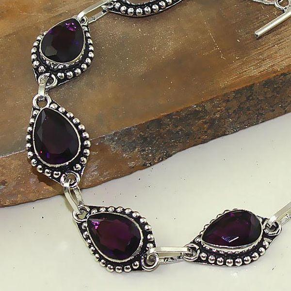 Am 1289c bracelet 1900 belle epoque amethyste violette pourpre bijou achat vente argent 925