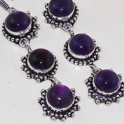 Am 1292c boucles oreilles 1900 belle epoque amethyste violette pourpre bijou achat vente argent 925