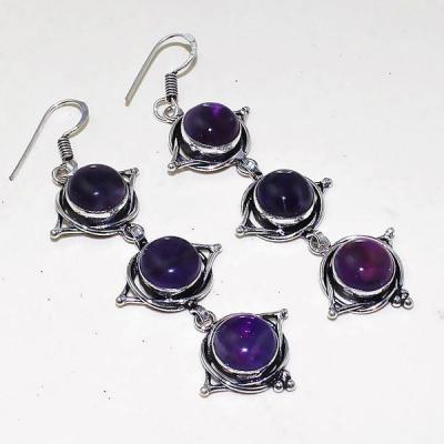 Am 1293a boucles oreilles 1900 belle epoque amethyste violette pourpre bijou achat vente argent 925