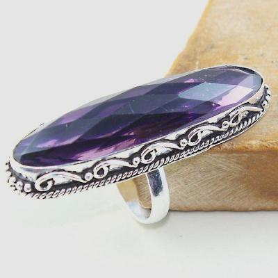 Am 1314a bague t55 medievale amethyste violet 1900 bijoux achat vente argent 925