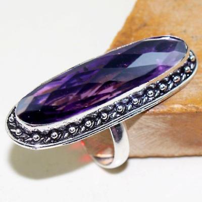 Am 1325a bague t58 episcopale medievale amethyste violet 1900 bijoux achat vente argent 925