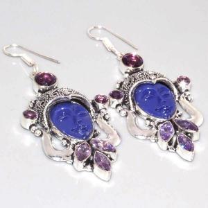 Am 1335a boucles pendants oreilles bouddha amethyste violet 1900 achat vente argent 925