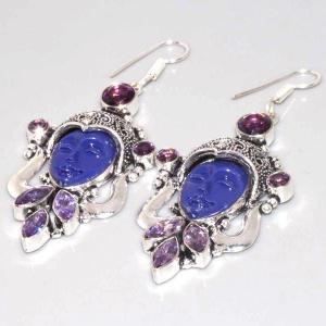 Am 1335b boucles pendants oreilles bouddha amethyste violet 1900 achat vente argent 925