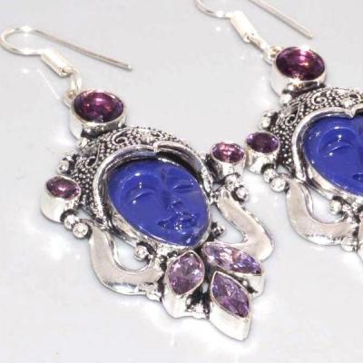 Am 1335c boucles pendants oreilles bouddha amethyste violet 1900 achat vente argent 925