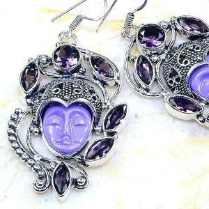 Am 1336c boucles pendants oreilles bouddha amethyste violet 1900 achat vente argent 925