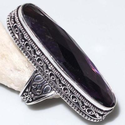 Am 1347a bague chevaliere t60 amethyste 12x46mm medievale 1900 bijoux achat vente argent 925