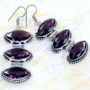 Am 1349a boucles pendants oreilles amethyste pourpre violet 1900 achat vente argent 925