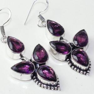 Am 1376c boucles pendants oreilles amethyste pourpre 14gr violet 1900 achat vente argent 925