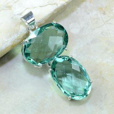 Am 2003a pendant pendentif pierre taillee amethyste verte gemme achat vente argent 925