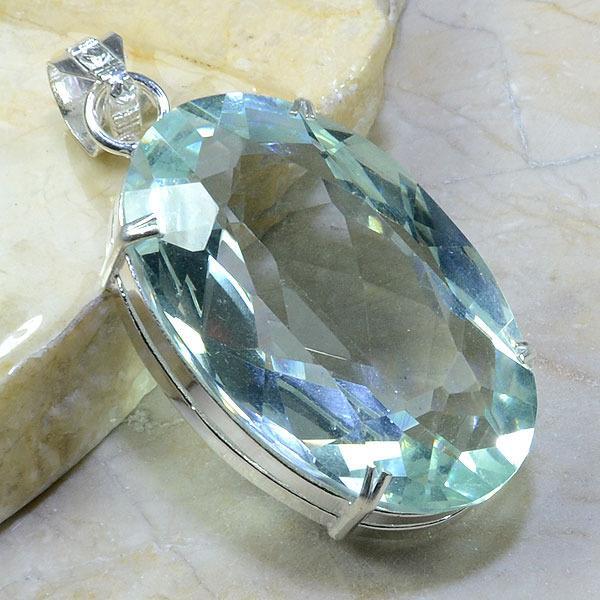 Am 2005a pendant pendentif pierre taillee amethyste verte gemme achat vente argent 925