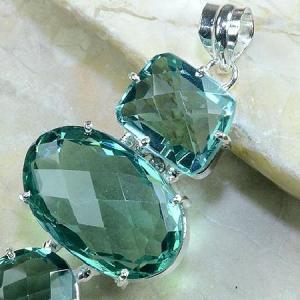 Am 2012b pendant pendentif pierre taillee amethyste verte gemme achat vente argent 925