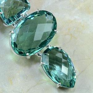 Am 2012c pendant pendentif pierre taillee amethyste verte gemme achat vente argent 925