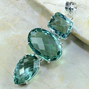 Am 2012d pendant pendentif pierre taillee amethyste verte gemme achat vente argent 925