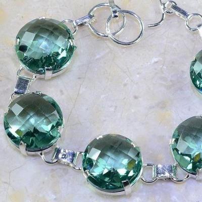 Am 2054b bracelet amethyste verte bijou achat vente argent 925