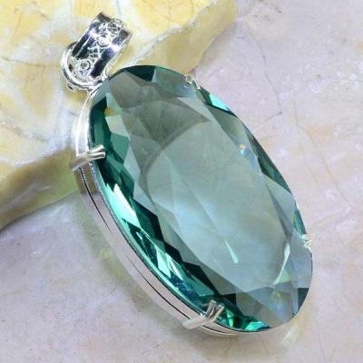 Am 2069a pendentif pendant amethyste verte pierre taillee gemme argent 925 achat vente bijoux