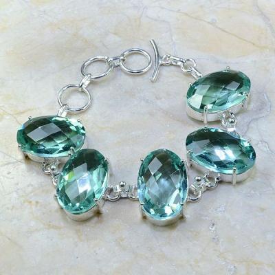 Am 3130a bracelet aigue marine bijou achat vente argent 925
