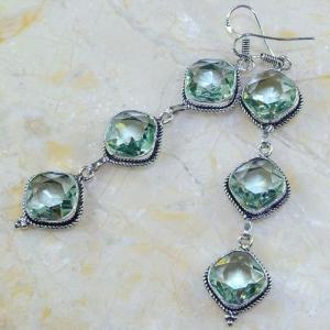 Am 3148b boucles oreilles pendants aigue marine verte bijou achat vente argent 925
