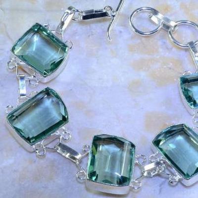 Am 3176b bracelet aigue marine bleue bijou achat vente argent 925