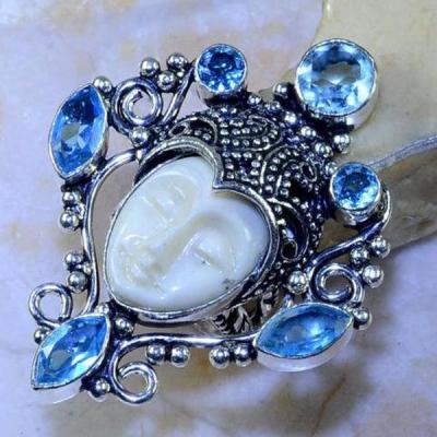 Am 3177a bague t52 chevaliere bouddha aigue marine bleue bijou achat vente argent 925