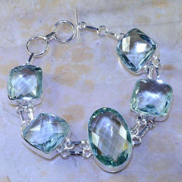 Am 3185a bracelet aigue marine bleue bijou achat vente argent 925