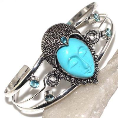 Am 3231a bracelet torque bouddha aigue marine 1900 bijoux achat vente argent 925