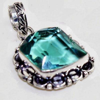 Am 3233c pendentif aigue marine bijou achat vente bijoux argent 925