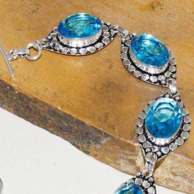 Am 3260b bracelet aigue marine bleue bijou achat vente argent 925