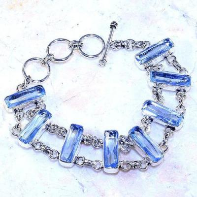 Am 3270a bracelet aigue marine bleue baguettes emeraude bijou achat vente argent 925