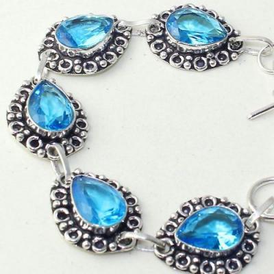 Am 3293c bracelet aigue marine bleue ovales gouttes bijou achat vente argent 925