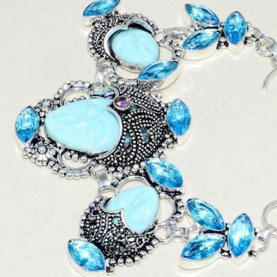 Am 3302c bracelet bouddha aigue marine bleue ovales gouttes bijou achat vente argent 925
