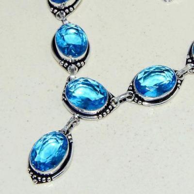 Am 3305b collier sautoir parure aigue marine bleue 30gr bijou achat vente argent 925