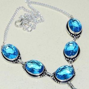 Am 3305c collier sautoir parure aigue marine bleue 30gr bijou achat vente argent 925