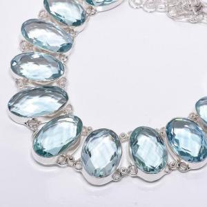 Am 3326b collier sautoir parure aigue marine bleue 120gr 18x28mm bijou achat vente argent 925