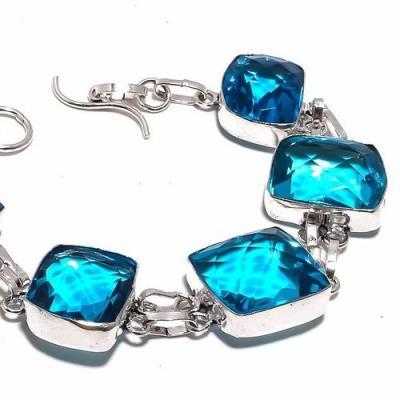 Am 3331b bracelet aigue marine bleue 35gr 15x20mm bijou achat vente argent 925