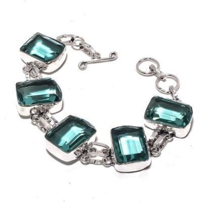 Am 3332a bracelet aigue marine bleue 30gr 15x20mm bijou achat vente argent 925
