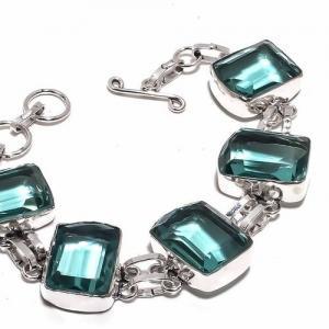 Am 3332b bracelet aigue marine bleue 30gr 15x20mm bijou achat vente argent 925