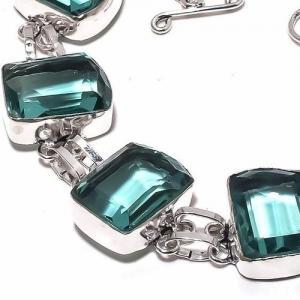 Am 3332c bracelet aigue marine bleue 30gr 15x20mm bijou achat vente argent 925