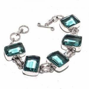 Am 3332d bracelet aigue marine bleue 30gr 15x20mm bijou achat vente argent 925