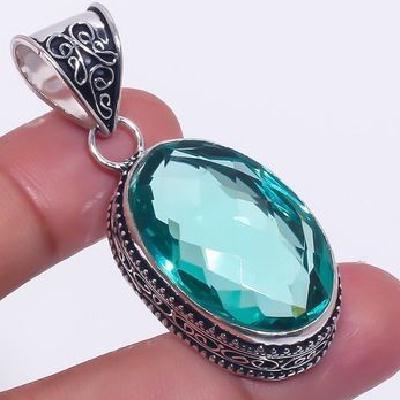 Am 3344c pendentif pendant aigue marine bleue 15gr 18x25mm bijou achat vente argent 925