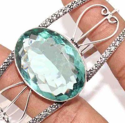 Am 3377b bracelet torque aigue marine bleue 27gr 24x34mm bijou ethnique achat vente argent 925