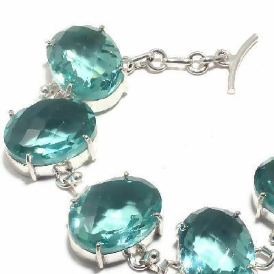 Am 3388c bracelet aigue marine 41gr 15x22mm bijou achat vente argent 925