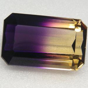 AM-5140 - Superbe AMETRINE de BOLIVIE taille émeraude Qualité IF -Dimensions :30x17x14 mm -51,4 carats - 10,28 gr