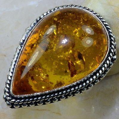 Amb 005a bague t59 cabochon ambre amber topaze achat vente bijoux argent 926
