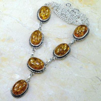 Amb 008d collier parure sautoir ambre amber baltique baltic achat vente bijoux argent 925